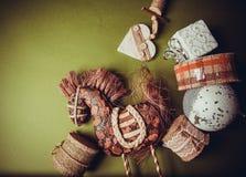 Fondo de la guirnalda de la Navidad Fotografía de archivo libre de regalías