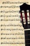 Fondo de la guitarra Imágenes de archivo libres de regalías