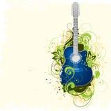 Fondo de la guitarra stock de ilustración
