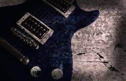 Fondo de la guitarra de Grunge Foto de archivo libre de regalías