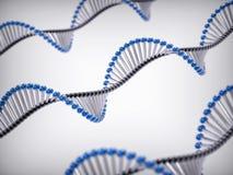 fondo de la hélice de la DNA 3D Imágenes de archivo libres de regalías