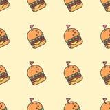 Fondo de la hamburguesa Foto de archivo