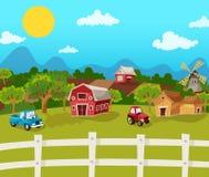 Fondo de la historieta de la granja ilustración del vector
