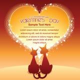 Fondo de la historieta del día de tarjetas del día de San Valentín Imagen de archivo libre de regalías