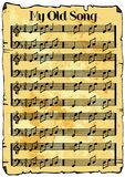 Fondo de la hoja de música stock de ilustración