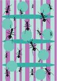 Fondo de la hormiga Fotografía de archivo