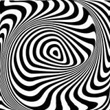 Fondo de la ilusión del movimiento del remolino del diseño ilustración del vector