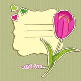 Fondo de la ilustración de la tarjeta del día de San Valentín Fotografía de archivo