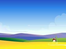 Fondo de la ilustración del paisaje del Web Fotografía de archivo
