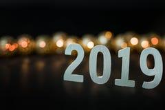 Fondo 2019 de la imagen de la celebración de la Feliz Año Nuevo fotos de archivo libres de regalías