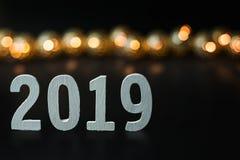 Fondo 2019 de la imagen de la celebración de la Feliz Año Nuevo fotografía de archivo libre de regalías