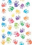 Fondo de la impresión de la mano Fotos de archivo libres de regalías