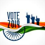 Fondo de la India del voto con la bandera y la mano libre illustration