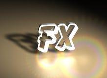 Fondo de la insignia de FX stock de ilustración