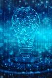 Fondo de la inteligencia artificial, fondo de la innovación stock de ilustración