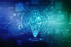 Fondo de la inteligencia artificial, fondo de la innovación imagen de archivo libre de regalías
