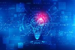 Fondo de la inteligencia artificial, fondo de la innovación foto de archivo libre de regalías