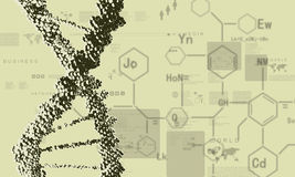 Fondo de la investigación de la DNA stock de ilustración
