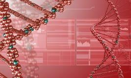 Fondo de la investigación de la DNA foto de archivo