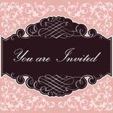 Fondo de la invitación Imagen de archivo