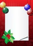 Fondo de la invitación de la Navidad Fotos de archivo