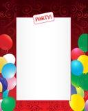 Fondo de la invitación del partido Imagen de archivo