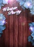 Fondo de la invitación del partido del invierno Imágenes de archivo libres de regalías