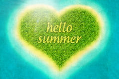 Fondo de la isla del corazón del verano Fotos de archivo