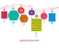 Fondo de la linterna para tradicional del Año Nuevo chino