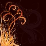 Fondo de la llama del Grunge Imagen de archivo