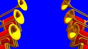 Fondo de la llave de Fanfare On Blue Chroma libre illustration