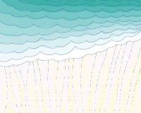 Fondo de la lluvia Fotografía de archivo
