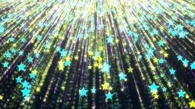 Fondo de la lluvia estelar multicolora con los elementos y los detalles brillantes foto de archivo libre de regalías