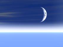 Fondo de la luna stock de ilustración