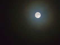 Fondo de la Luna Llena aislado Foto de archivo libre de regalías