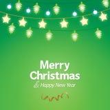 Fondo de la luz de la Navidad de la decoración Imagen de archivo
