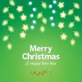 Fondo de la luz de la Navidad de la decoración Fotografía de archivo libre de regalías