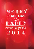 Fondo de la luz de la Navidad. Tarjeta o invitación. Fotografía de archivo libre de regalías