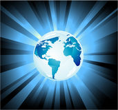Fondo de la luz de la tierra del planeta Imágenes de archivo libres de regalías