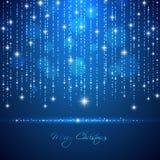 Fondo de la luz del extracto de la Feliz Navidad con d que brilla intensamente descendente ilustración del vector