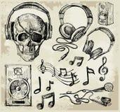Fondo de la música Fotografía de archivo