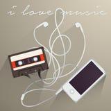 Fondo de la música, amo música Imágenes de archivo libres de regalías