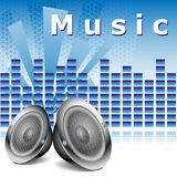 Fondo de la música con los altavoces Fotografía de archivo libre de regalías