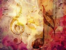 Fondo de la música de Grunge Imágenes de archivo libres de regalías
