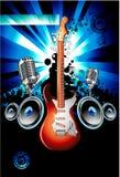 Fondo de la música de la guitarra eléctrica Imagenes de archivo