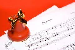 Fondo de la música de la Navidad Foto de archivo libre de regalías