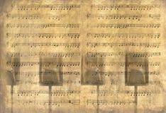 Fondo de la música de la vendimia Fotos de archivo libres de regalías