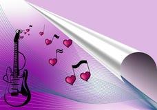 Fondo de la música del amor imagenes de archivo