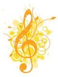 Fondo de la música del verano stock de ilustración