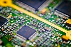 Fondo de la macro de la tarjeta de circuitos Foto de archivo libre de regalías